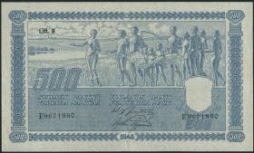 Finnland / Finland P.089 500 Markkaa 1945 (1948) (2)