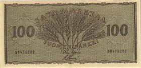 Finnland / Finland P.091 100 Markkaa 1955 (3+)