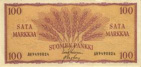 Finnland / Finland P.097 100 Markkaa 1957 (2)