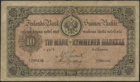 Finnland / Finland P.A51 10 Markkaa 1889 (4)