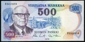 Finnland / Finland P.110b 500 Markkaa 1975 (2)