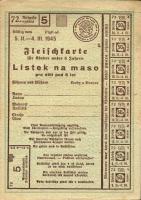 Fleischkarte 1945 - Listek na maso (1)