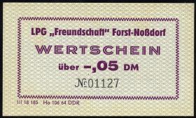 "LPG Forst-Noßdorf ""Freundschaft"" 0,05 DM (1)"