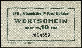 "LPG Forst-Noßdorf ""Freundschaft"" 0,10 DM (1)"