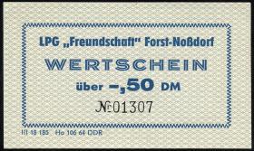 "LPG Forst-Noßdorf ""Freundschaft"" 0,50 DM (1-)"