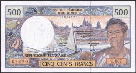 Frz. Pazifik Terr. / Fr. Pacific Terr. P.01 500 Francs (1995-2000) (1)