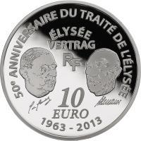Frankreich 10 Euro 2013 Europa: Élysée-Vertrag
