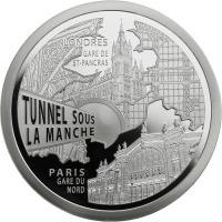 Frankreich 10 Euro 2013 Euro Tunnel / TGV Paris Nord