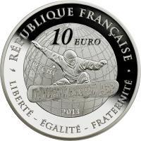 Frankreich 10 Euro 2013 Oly. Winterspiele: Snowboard