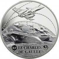 Frankreich 10 Euro 2016 Flugzeugträger Charles de Gaulle