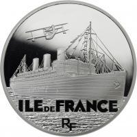 Frankreich 10 Euro 2016 Passagierschiff Ile de France