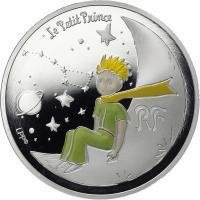"""Frankreich 10 Euro 2021 75 Jahre """"Der kleine Prinz"""" Mond"""