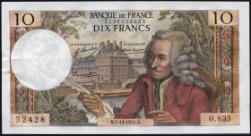 Frankreich / France P.147d 10 Francs 1972 (2/1)
