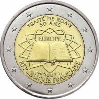Frankreich 2 Euro 2007 Römische Verträge