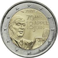 Frankreich 2 Euro 2010 Charles de Gaulle