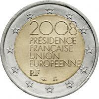 Frankreich 2 Euro 2008 EU-Präsidentschaft