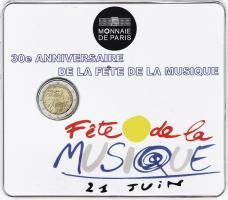 Frankreich 2 Euro 2011 Fete de la Musique, Blister