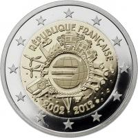 Frankreich 2 Euro 2012 Euro-Bargeld PP