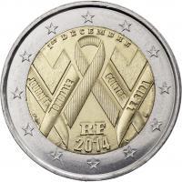 Frankreich 2 Euro 2014 Welt-Aids-Tag