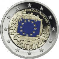 Frankreich 2 Euro 2015 30 Jahre EU-Flagge PP