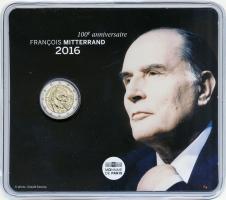 Frankreich 2 Euro 2016 Mitterrand im Blister
