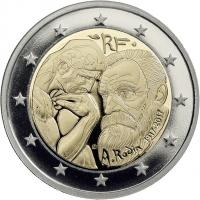Frankreich 2 Euro 2017 Auguste Rodin PP