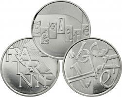 """Frankreich 3 x 5 Euro 2014 Serie """"Werte der Republik"""""""