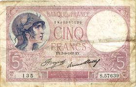 Frankreich / France P.072e 5 Francs 1933 (4)