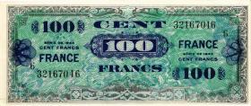 Frankreich / France P.123c 100 Francs 1944 Block 6 (1)