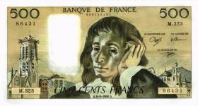 Frankreich / France P.156h 500 Francs 1990-91 (2)