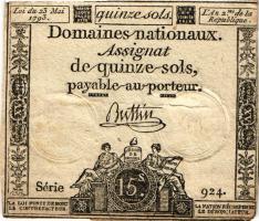 Frankreich / France P.A054 Assignat 15 Sols 1792 (3)