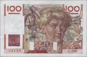 Frankreich / France P.128a 100 Francs 1946 (1)
