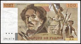 Frankreich / France P.154 100 Francs 1978-1995 (3)
