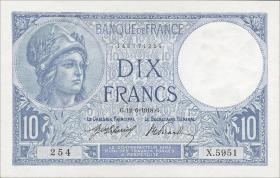 Frankreich / France P.073a 10 Francs 1918 (1)