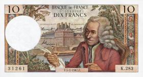 Frankreich / France P.147b 10 Francs 1967 Voltaire (1)