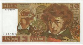 Frankreich / France P.150c 10 Francs 1976 Berlioz (1)