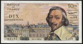 Frankreich / France P.142 10 Neue Francs 6.4.1961 (1)