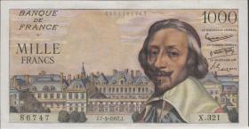 Frankreich / France P.134b 1000 Francs 7.3.1957 (2