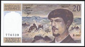 Frankreich / France P.151a 20 Francs 1980-86 Debussy (1)