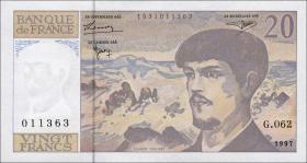 Frankreich / France P.151i 20 Francs 1997 Debussy (1)