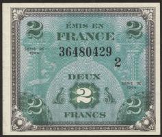 Frankreich / France P.114b 2 Francs 1944 (1-)