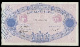 Frankreich / France P.066j 500 Francs 1923 (3)