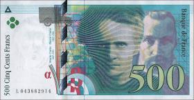 Frankreich / France P.160a 500 Francs 1994 (1/1-)