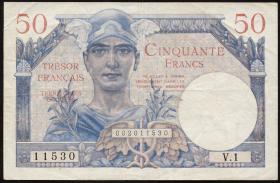 Frankreich / France P.M08 50 Francs (1947) (3+)