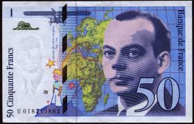 Frankreich / France P.157Aa 50 Francs 1994 (3+)