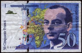 Frankreich / France P.157Ab 50 Francs 1994 (3)