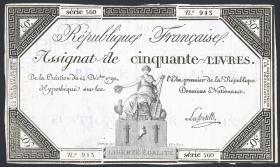 Frankreich / France P.A072 Assignat 50 Livres 1792 (3)