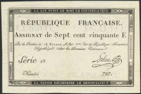 Frankreich / France P.A079 Assignat 750 Francs (1795) (3/2)