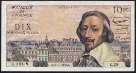 Frankreich / France P.142 10 Neue Francs 15.10.1959 (2)