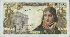 Frankreich / France P.136b 10000 Francs 1957 (1)